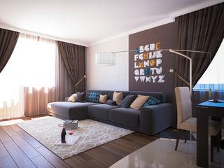 Insight Vision GmbH Modern living room Brown
