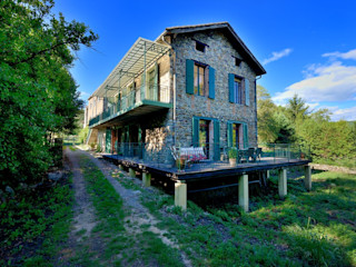 RÉNOVATION D'UNE MAISON CÉVENOLE JOSE MARCOS ARCHITECTEUR Maisons rurales Vert