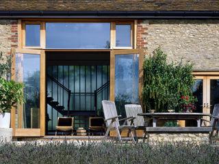 Barn Conversion KSR Architects Patios & Decks Stone