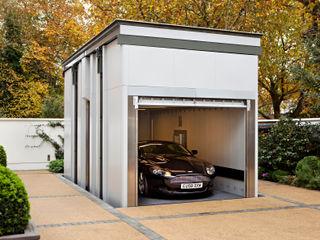 KSR Architects   Two Houses   Car lift KSR Architects Garajes de estilo clásico