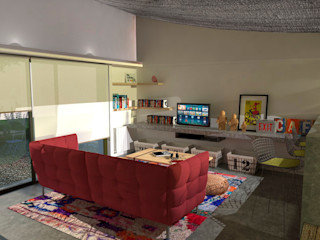 Estudio 17.30 Eclectic style living room