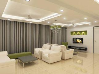 Kunal & Associates Modern living room