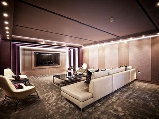 5&6 Connaught Place, Hyde Park, London. Flairlight Designs Ltd Salle multimédia classique