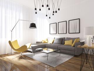 ZR-architects Moderne Wohnzimmer