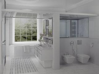Un salon d'eau en Marbre de Carrare Architecture du bain Salle de bainDécorations Marbre Blanc