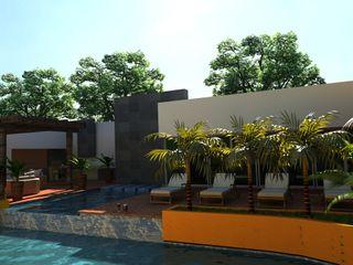OLLIN ARQUITECTURA Modern Pool