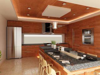 OLLIN ARQUITECTURA Modern Kitchen