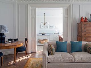 Mansfield Street Apartment, London Nash Baker Architects Ltd 클래식스타일 거실 화이트
