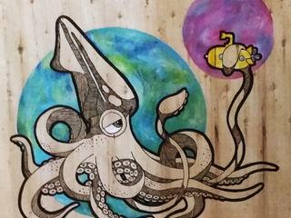 LM decoración ArteImagens e pinturas Madeira Multi colorido
