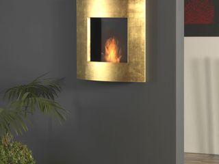muenkel design - Elektrokamine aus Großentaft SalonesChimeneas y accesorios Ámbar/Dorado