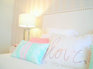 White Glam Modern style bedroom