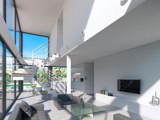 NUÑO ARQUITECTURA Livings modernos: Ideas, imágenes y decoración Cerámico Blanco