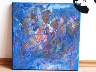 Originale: bemalte Leinwände Little Walking Wolf Kunst Bilder & Gemälde