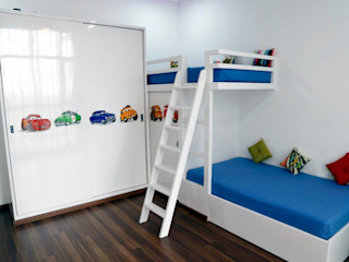 Uber space Dormitorios infantiles modernos: Blanco
