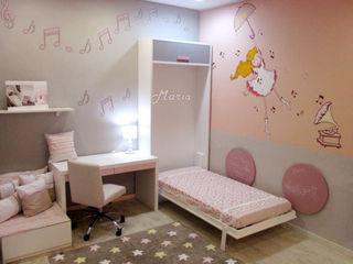 Dormitorio niña con cama plegable Alábega Habitaciones infantilesCamas y cunas