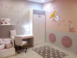 Dormitorio niña con cama plegable Alábega Habitaciones infantilesEscritorios y sillas
