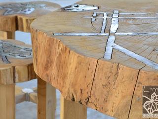 Livyng Ecodesign JardinMeubles Aluminium/Zinc Effet bois