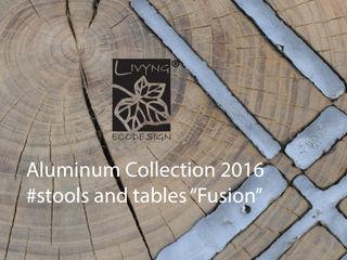 Livyng Ecodesign SalonCanapés & tables basses Aluminium/Zinc Effet bois