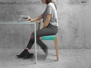 Studio Ludovico Study/officeChairs Solid Wood Green