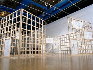 Exposition au centre Pompidou (Beaubourg - Paris) B4 Musées modernes Bois massif