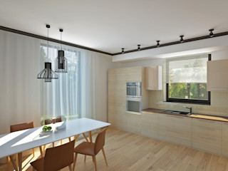 YES-designs Sala da pranzo minimalista