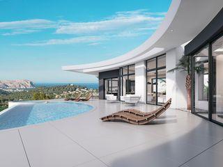 Villa Siro Miralbo Excellence Modern balcony, veranda & terrace