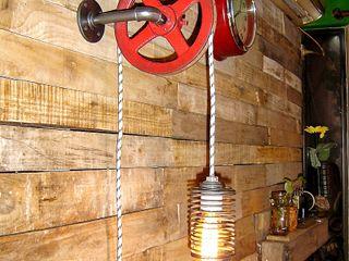 Aplique de Pared Industrial Polea Lamparas Vintage Vieja Eddie LivingsIluminación Hierro/Acero