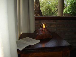 Lampara Tipo Edison en tronco, Bombilla Vintage Lamparas Vintage Vieja Eddie DormitoriosIlumninación Madera