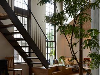 Mimasis Design/ミメイシス デザイン Ruang Keluarga Modern Kayu Wood effect