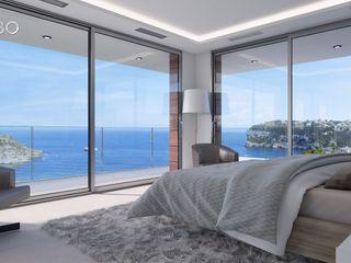 Villa Poseidon Miralbo Excellence Modern style bedroom
