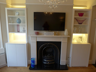 Alcove Storage Units Style Within Modern living room