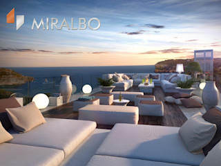 Villa Onyx Miralbo Excellence Modern balcony, veranda & terrace