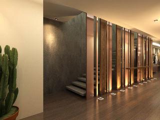 TELOS İÇ MİMARLIK VE TASARIM Modern corridor, hallway & stairs