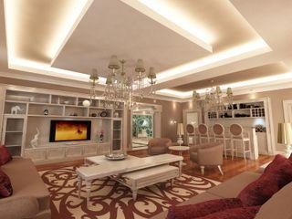TELOS İÇ MİMARLIK VE TASARIM Eclectic style living room