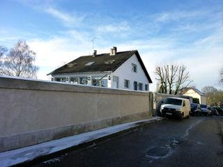Olivier Stadler Architecte Classic style houses Concrete Beige