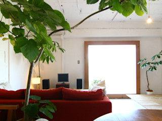 Mimasis Design/ミメイシス デザイン Ruang Keluarga Modern White