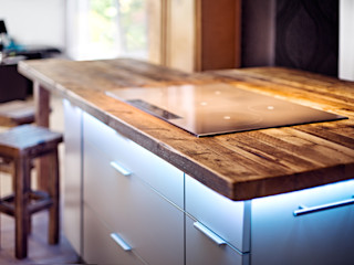 Kochinsel mit Bar edictum - UNIKAT MOBILIAR KücheArbeitsplatten