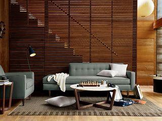 BANTAM Design Within Reach Mexico SalasSalas y sillones Cuero Azul