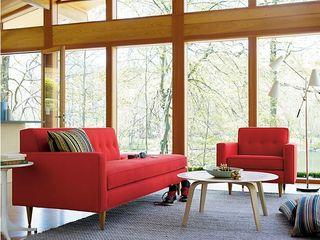 BANTAM Design Within Reach Mexico SalasSalas y sillones Algodón Rojo