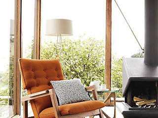 Jens Risom Design Within Reach Mexico RecámarasSofas y chaise long Textil Naranja