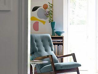 Jens Risom Design Within Reach Mexico SalasSalas y sillones Textil Azul