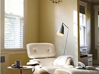 Eames® Lounge Chair and Ottoman Design Within Reach Mexico SalasSalas y sillones Cuero Blanco