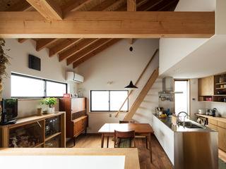 藤森大作建築設計事務所 Modern Yemek Odası Beyaz