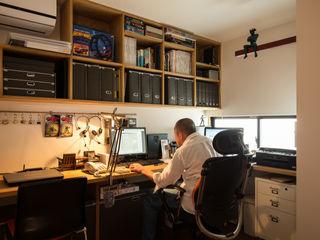 藤森大作建築設計事務所 Modern Study Room and Home Office White