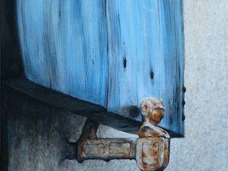 Malerei Industrial Dietrich Art Kunst Bilder & Gemälde Flachs/Leinen Blau
