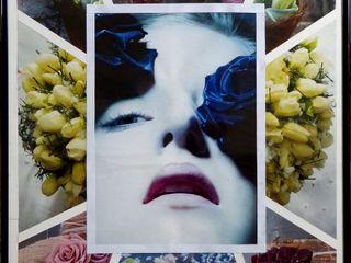 Collagen Dietrich Art Kunst Bilder & Gemälde Papier Lila/Violett