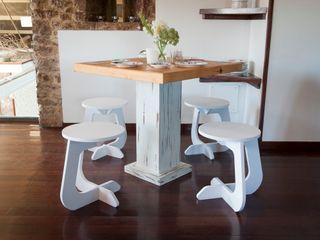 TABUHOME КухняСтоли та стільці Синтетичні Білий