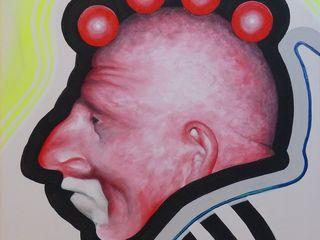 Malerei Personen Dietrich Art Kunst Kunstobjekte Flachs/Leinen Rot