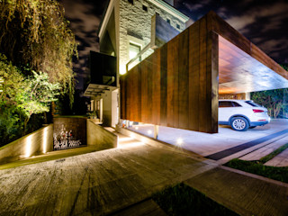 BLOS Arquitectos Modern garage/shed Copper/Bronze/Brass