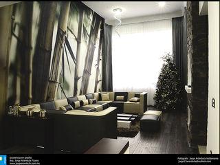 residencia Alondra Excelencia en Diseño Salones modernos Derivados de madera Blanco